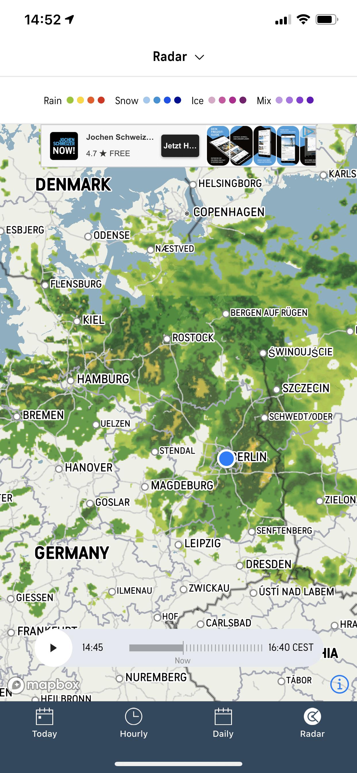 レーダー アプリ 雨雲
